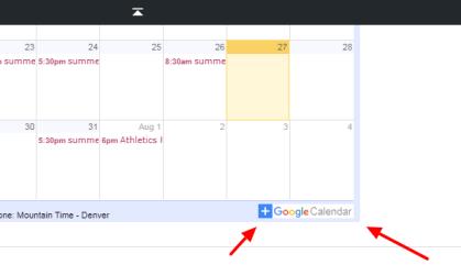 xc calendar