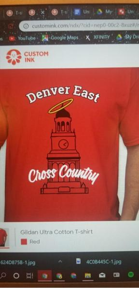 front of 2019 senior tshirt